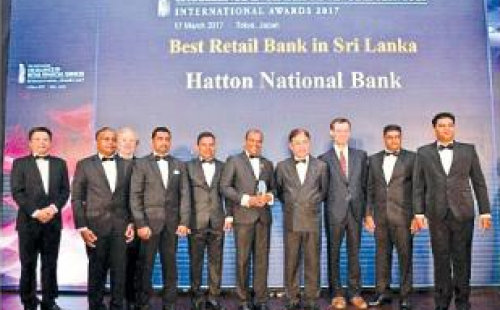 The Asian Banker names HNB as Best Retail Bank and Best Microfinance Product of the Year in Asia Pacific Awards in Sri Lanka for 2017