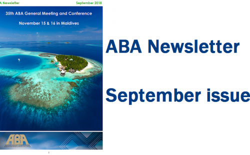 ABA Newsletter's September issue is out