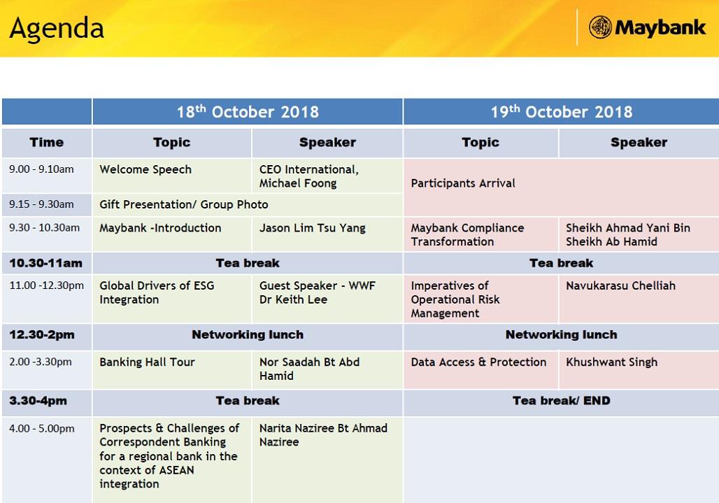 2018 1003 KL agenda