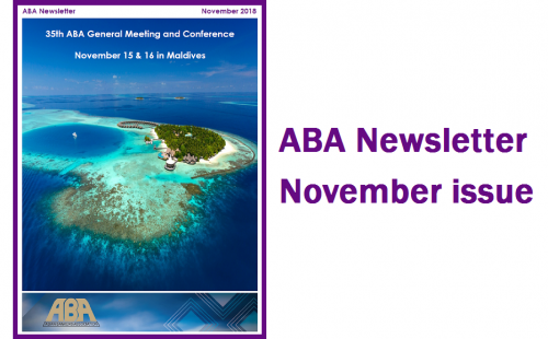 ABA Newsletter's November issue is ready