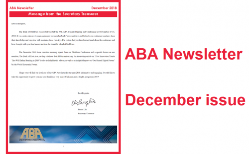 ABA Newsletter's December issue is ready
