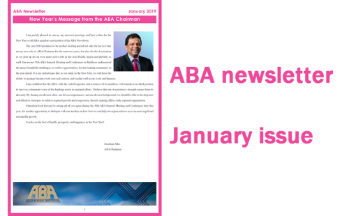 ABA Newsletter's January issue is ready