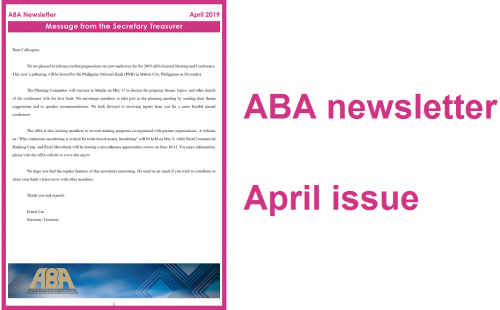 ABA newsletter April issue
