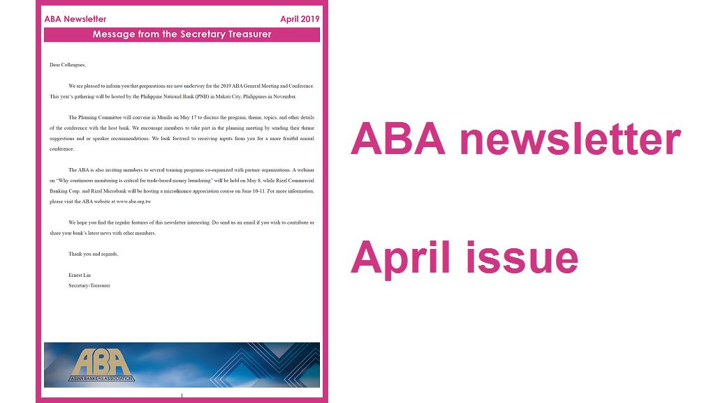 2019 0507 ABA newsletter 1028 x 578