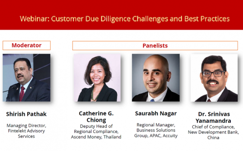 3rd Webinar – Customer due diligence challenges & Best practices – 10 July