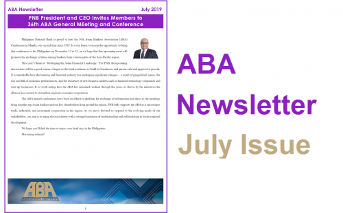 ABA Newsletter – July Issue