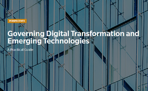 Governing digital transformation and emerging technologies