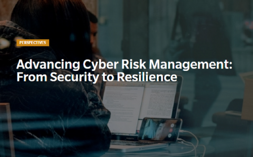 Advancing Cyber Risk Management: from security to resilience