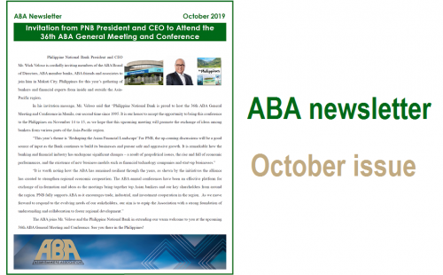 ABA Newsletter – October issue