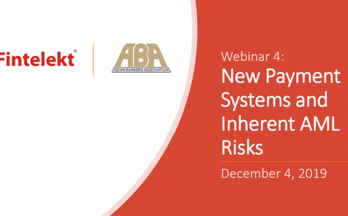 Webinar on New Payment Systems and Inherent AML Risks successfully held on December 4th 2019
