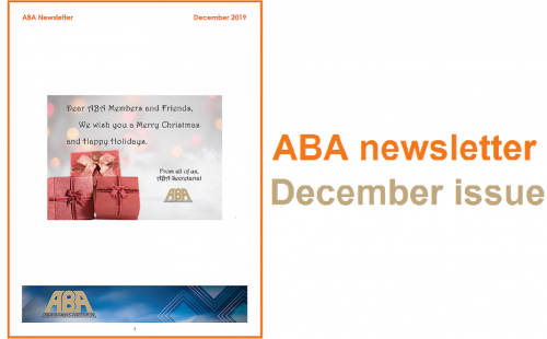 ABA Newsletter – December issue available