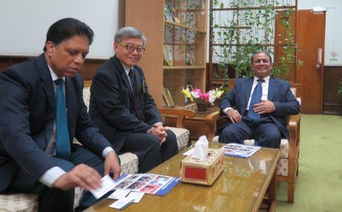 ABA Secretary-Treasurer Ernest Lin meets Razee Hassan, Bangladesh FIU Head