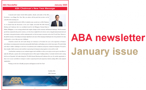 ABA newsletter – January issue available