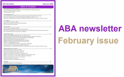 ABA newsletter – February issue available