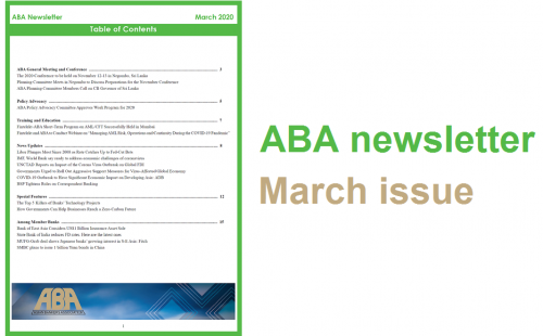 ABA newsletter – March issue available