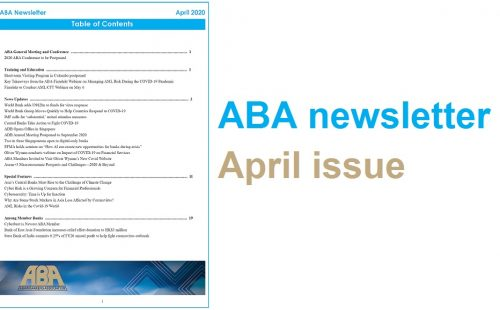 ABA newsletter – April issue available