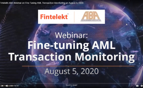 Webinar on Fine-tuning AML Transaction Monitoring draws record-breaking attendance