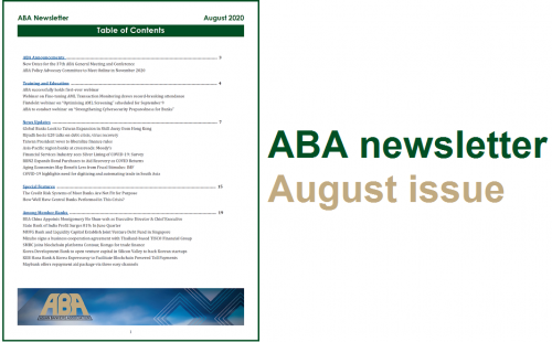 ABA Newsletter – August issue