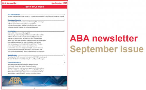 ABA newsletter – September issue