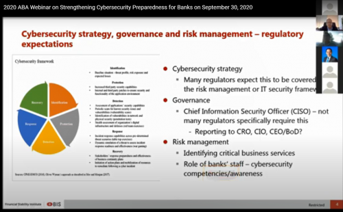 Successful webinar on Cybersecurity for Banks held on September 30, 2020