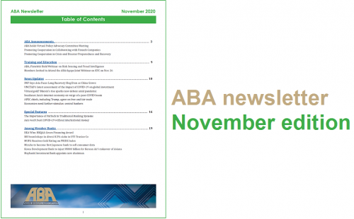 ABA newsletter – November issue