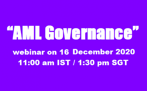 "ABA webinar on ""AML Governance"" – 16 December 2020"