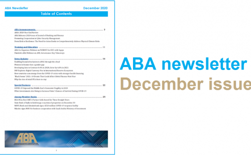 ABA newsletter – December issue