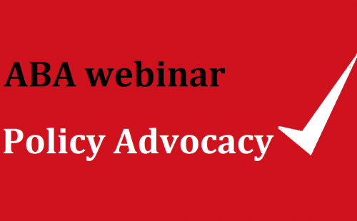 Join ABA Policy Discussions online on March 26th