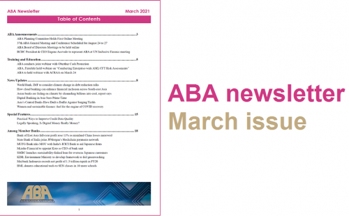 ABA newsletter – March issue