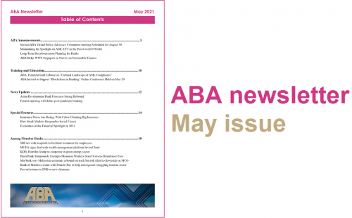ABA newsletter – May issue