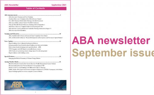 ABA newsletter – September issue
